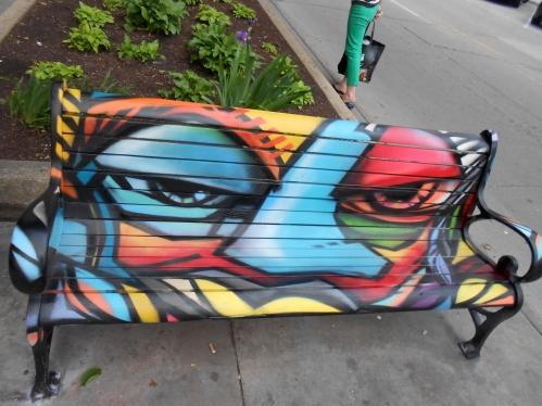 Bench in Downtown Iowa City